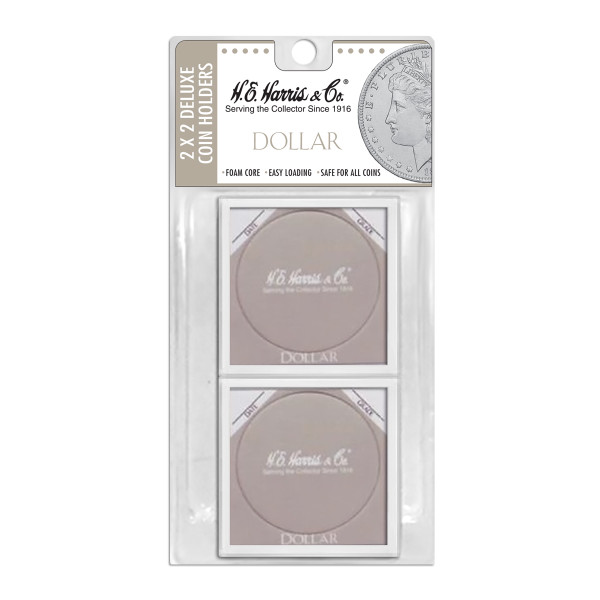 2X2 Color Coded Holder Dollar-6 Per Blister Pack