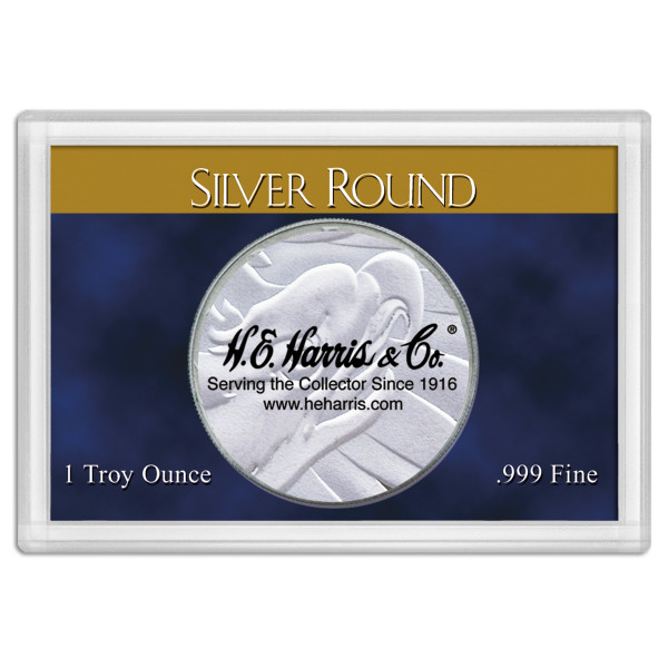 Frosty Case 2X3  Silver Round