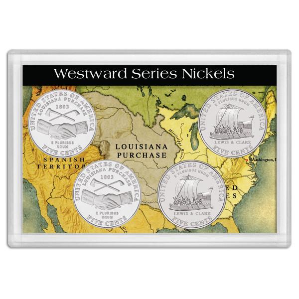 Westward Journey Nickel Series Lewis and Clark, Frosty Case 2x3 (4)