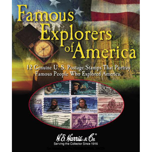 Famous Explorers of America US Stamp Packet (12 ct)