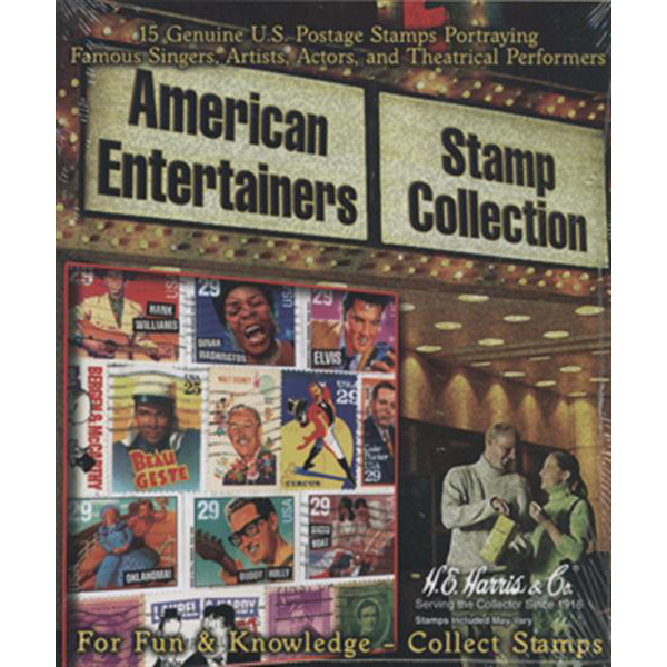 American Entertainers Stamp Packet (15 ct)