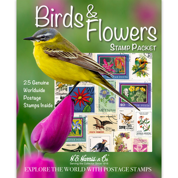 Birds & Flowers WW Stamp Packet (25 ct)