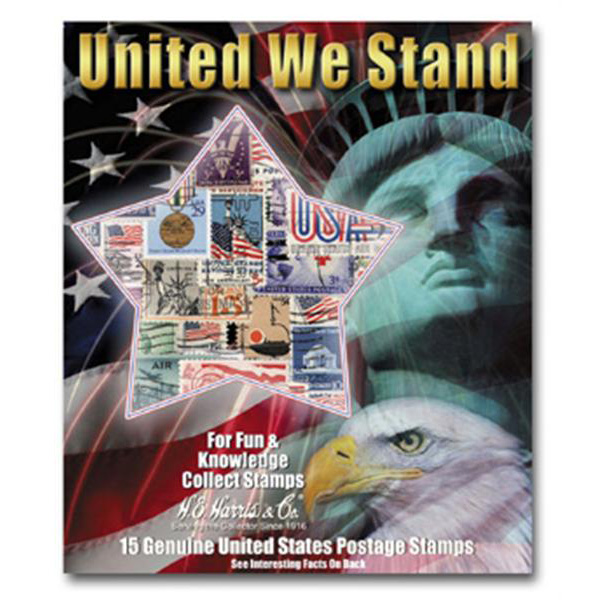United We Stand US Stamp Packet (15 ct)