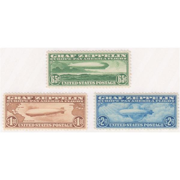 1930 Graf Zeppelin Issue Mint OG Set