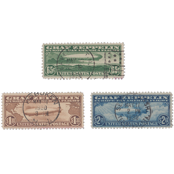 1930 65c-$2.60 Graf Zeppelin Set VF Used