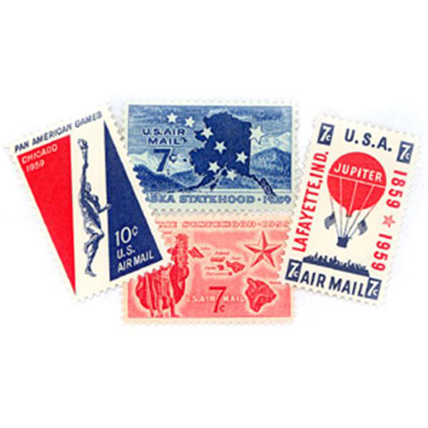 1959 Air Post Mint Year Set