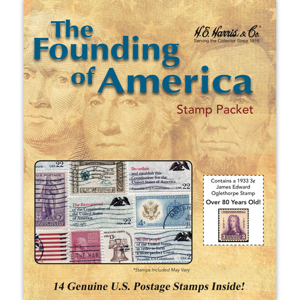 The Founding of America Stamp Collection Packet (14 ct)