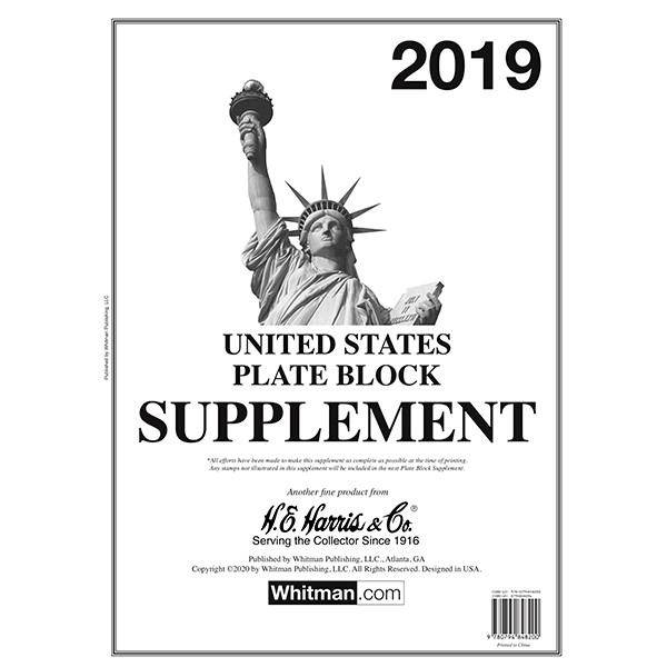 Plate Block Supplement 2019
