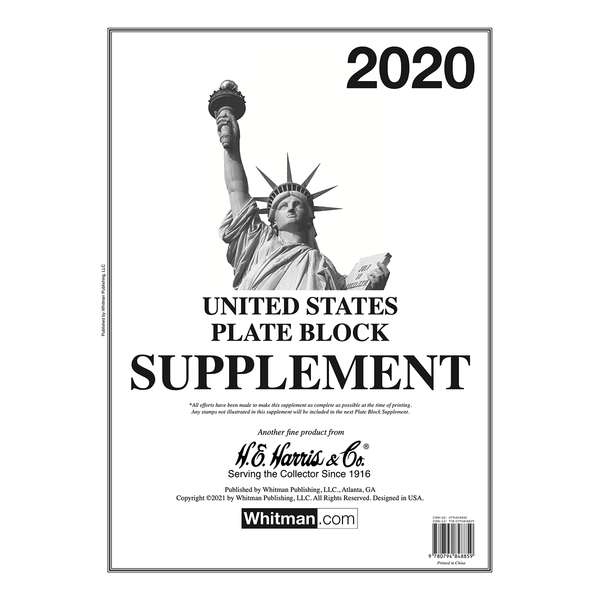 2020 Plate Block Supplement