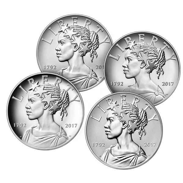 American Liberty 225th Anniversary Silver Four-Medal Set, Mint Packaging