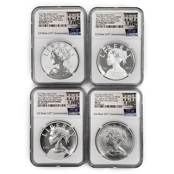 American Liberty 225th Anniversary Four-Medal Set, Graded (AL6021079-203)