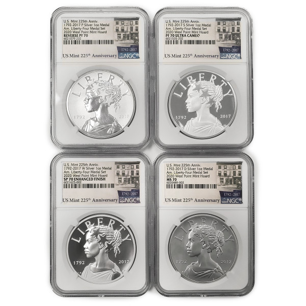 American Liberty 225th Anniversary Four-Medal Set, Graded (AL6021079-202)