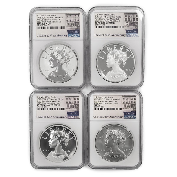 American Liberty 225th Anniversary Four-Medal Set, Graded (AL6021079-205)