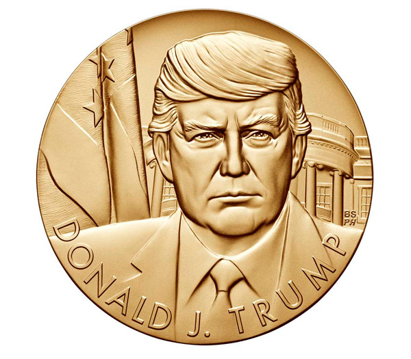 Official U.S. Mint Donald J. Trump Presidential Medal, 3 inch