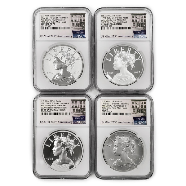 American Liberty 225th Anniversary Four-Medal Set, Graded (AL6021079-204)