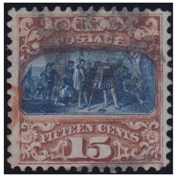 1869 15c Landing of Columbus, Type II, VF Used, Cert.