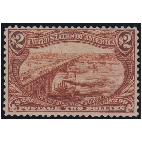 1898 $2 Trans-Miss FVF Mint Original Gum, Lightly Hinged