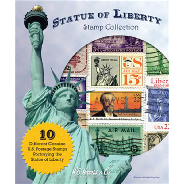 Statue of Liberty Stamp Collection Packet (10 ct)