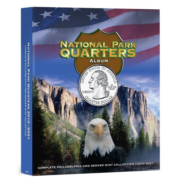 National Park Quarters Full Color Album P&D Mints