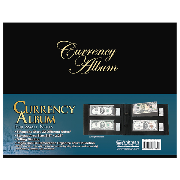 Currency Album for Small Notes