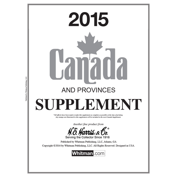 2015 Canada Stamp Supplement