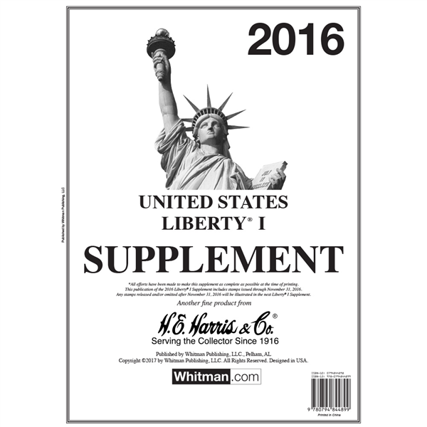 2016 Liberty I Stamp Supplement