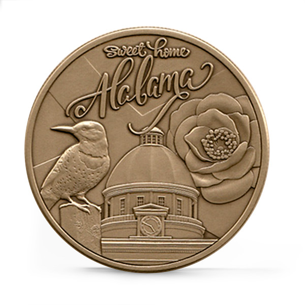 Alabama Bicentennial Sweet Home Commemorative Coin - Bronze Collage