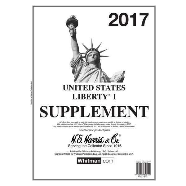 2017 Liberty I Stamp Supplement