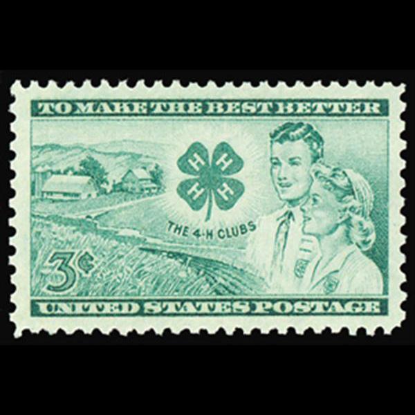 1952 3c 4-H Club Mint Single