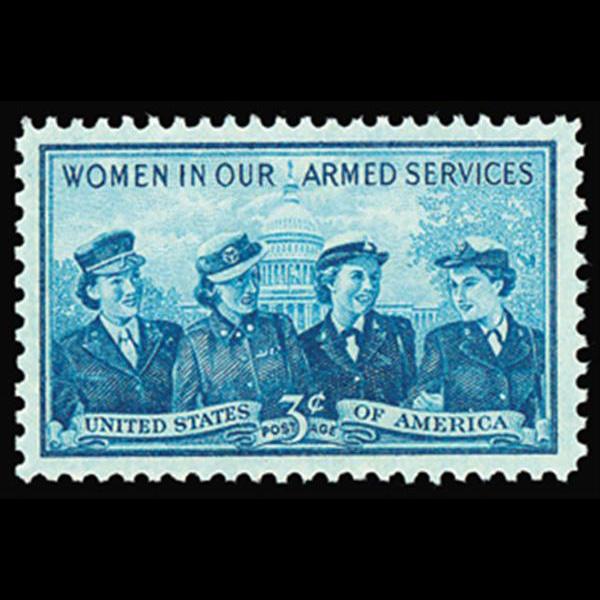 1952 3c Service Women Mint Single