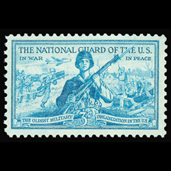 1953 3c National Guard Mint Single