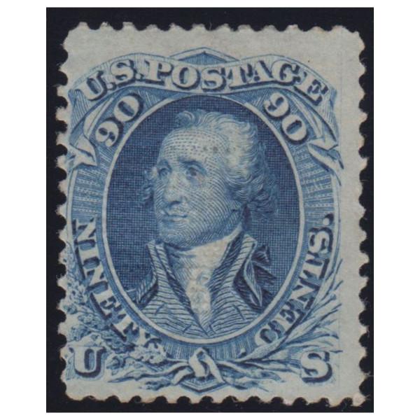 1867 90c Washington Blue, F Grill, Mint OG