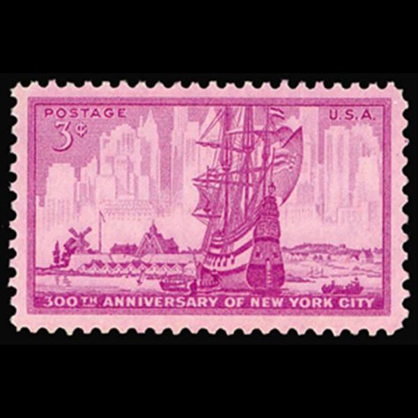 1953 3c New York City Mint Single
