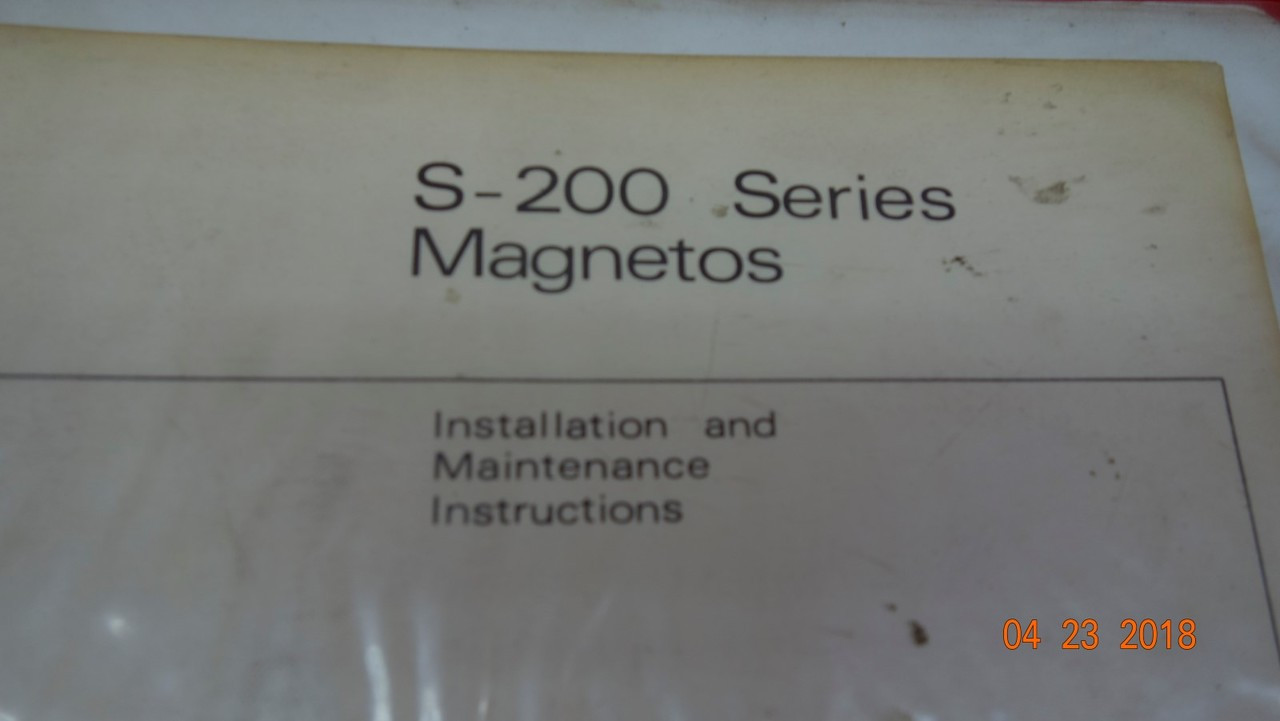 Bendix S-200 Series Magnetos Installation and Maintenance Instructions