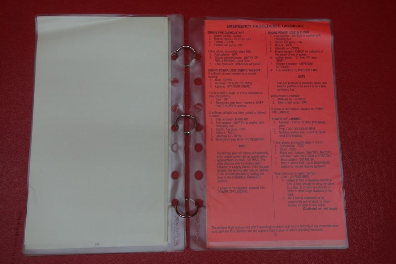 Piper Arrow II /& III Checklist PN 213-921-2664