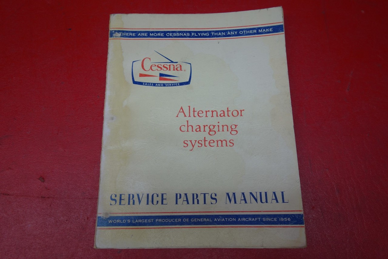 Cessna Alternator Charging Systems Service Parts Manual