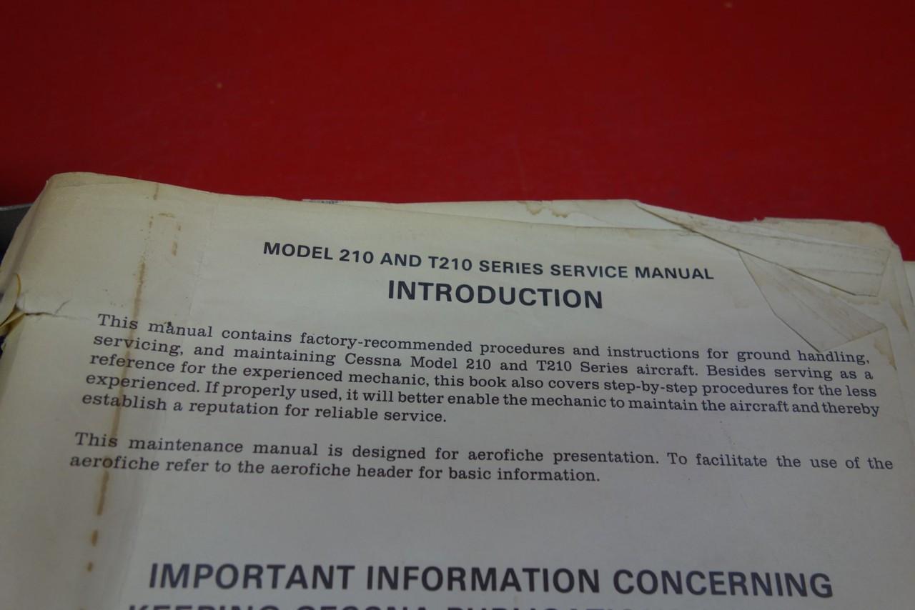 ... Cessna 210 & T210 Service Manual ...