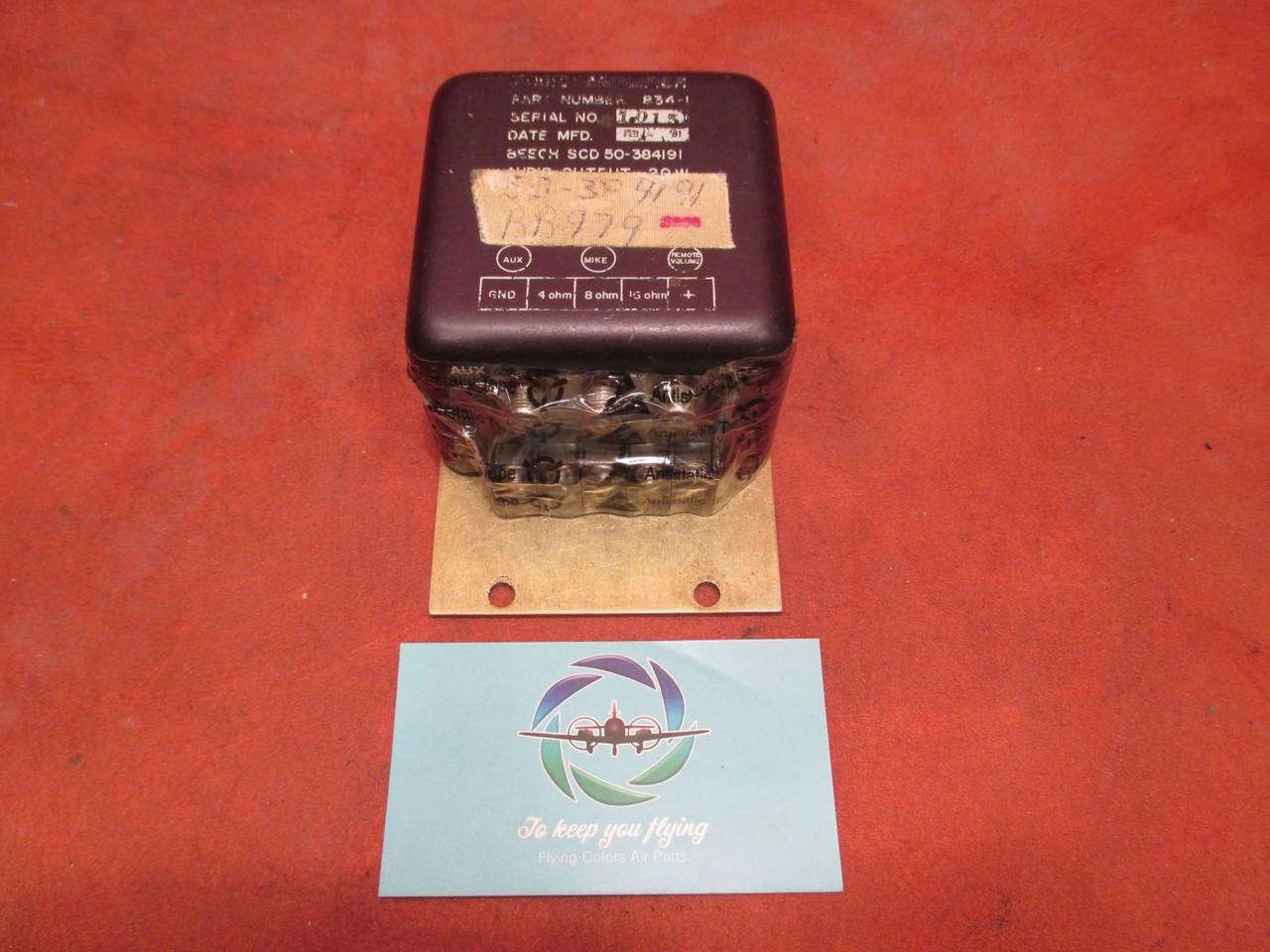 Beech Audio Amplifier 20W PN 834-1, 50-384191