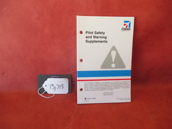 Cessna Pilot  Safety and Warning Supplements Manual PN  D5139-13, D5099-13