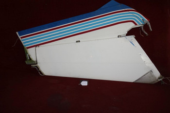 Cessna 150 Vertical Fin w/ Rudder PN 0431004-2, 0431004-44,0431004-41,0431004-3  (EMAIL OR CALL TO BUY)