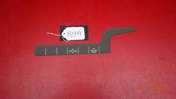 Beechcraft 35 Bonanza LH Selector Switch Placard PN 35-324198
