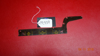 Beechcraft 35 Bonanza RH Instrument Panel Placard PN 35-324274-2
