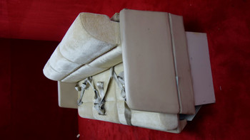 Grumman G-1159 Gulfstream II Bench Seat W/ Seat Belts (EMAIL OR CALL TO BUY)