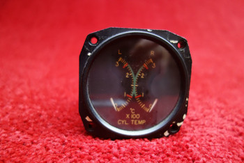 Thomas A. Edison Cylinder Temperature Indicator 12/24V PN 202-42352, 202-2F1F1K-D4