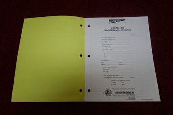 Aerotech Publications Propeller Maintenance Records Logbook
