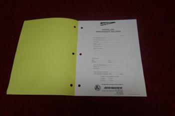 Aerotech  Publications , Propeller Maintenance  Records Logbook