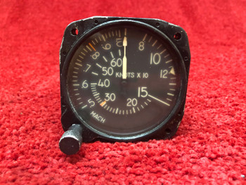Gates Learjet Mach Airspeed Indicator PN  S225-3