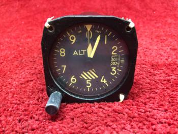 Aerosonic Instrument MA-1 Pressure Altimeter Indicator PN A-80-MA, 6080-A80MA