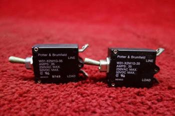 Potter & Brumfield Toggle Switch 50-250V PN W31-X2M1G-35
