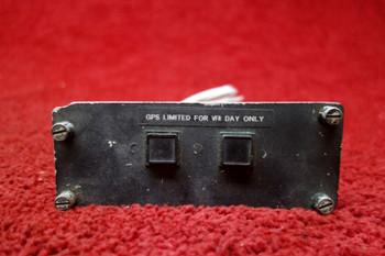 Eaton Instrument Panel Annunciator Light Switch PN 96182, 4766-123, 9404